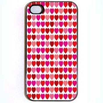 iPhone 4 4s CaseLot's of Hearts Hard Case comes in by KustomCases