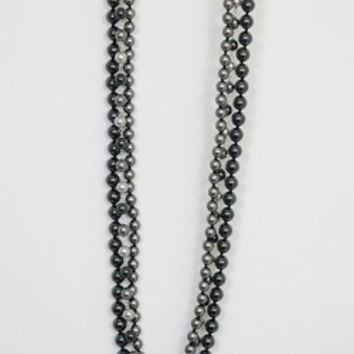 Chan Luu Grey Pearl Mix 3 Strand Necklace