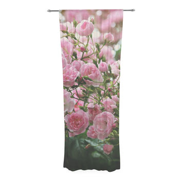 "Sylvia Cook ""The Fairy Rose"" Pink Floral Decorative Sheer Curtain"