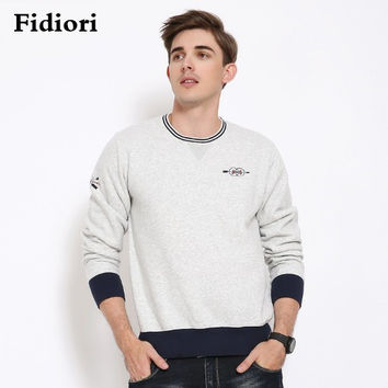 Fidiori 2017 new men cotton thick hoodies sweatshirt ,  hitting fashion warm hooded plus fleece casual clothes. dropshipping
