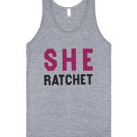 She Ratchet (Tank)-Unisex Athletic Grey Tank