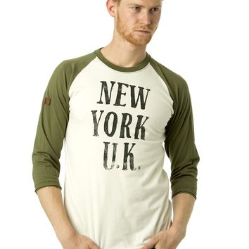Under Two Flags NY-UK Baseball Tee