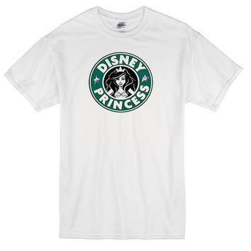 Disney Princess Starbucks Custom Men's Gildan Adult T-Shirt