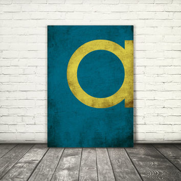 Letter A, monogram, 8x10, A3, digital download, typography, printable, home decor, poster, blue and yellow, instant download modern wall art