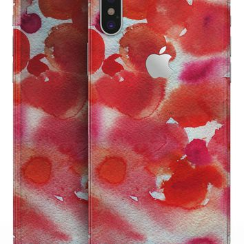 Love Red Absorbed Watercolor Texture - iPhone X Skin-Kit