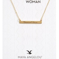 Dogeared Legacy Collection - Phenomenal Women Bar Necklace | Nordstrom
