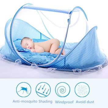 Portable & Foldable Baby Crib/Bed With Pillow Mat Set and With Netting