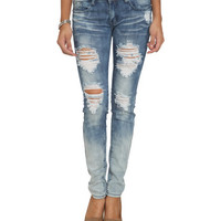 Gradient Wash Destroyed Skinny Jean | Shop Trending Now at Wet Seal