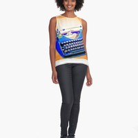 """""""freelancer"""" Contrast Tank by jessicaivy   Redbubble"""