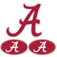 Alabama Crimson Tide NCAA Ultimate Car Magnet Kit (3Pc Set)