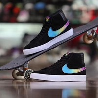 Nike SB x Lance Mountain Blazer Mid Fashion High-Top Flats Shoes