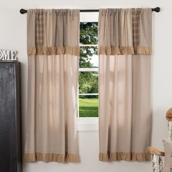 Sawyer Mill Patchwork Short Panel Curtains