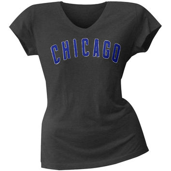 Chicago Cubs - Juniors Showtime Premium V-Neck T-Shirt