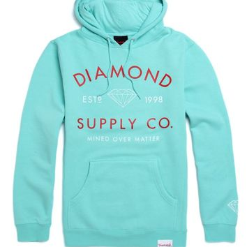 Diamond Supply Co Mined Over Matter Hoodie - Mens Hoodie - Green