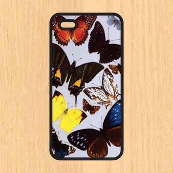 Butterflies Print Vintage Design Art iPhone 4 / 4s / 5 / 5s / 5c /6 / 6s /6+ Apple Samsung Galaxy S3 / S4 / S5 / S6
