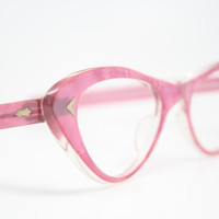 Pink cat eye glasses  vintage cateye eyeglasses frames