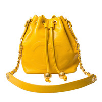 Chanel 90s Bucket Bag Yellow & Gold