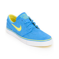 Nike SB Zoom Stefan Janoski Photo Blue & Yellow Suede Shoe at Zumiez : PDP