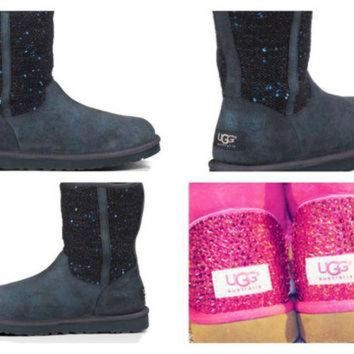 CREY1O Custom UGG Boots made with Swarovski Lyla Free: Shipping, Repair Kit, Cleaning Kit, C
