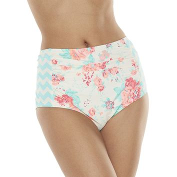 Juicy Couture Floral High-Waist Bikini Bottoms - Women's