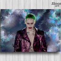 jared leto joker poster dc comics art the joker suicide squad