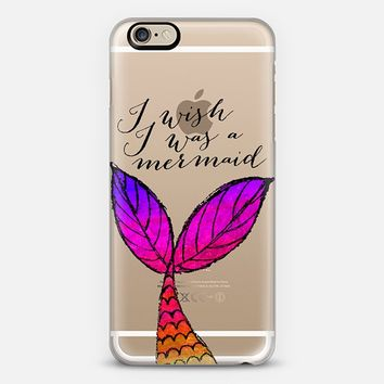 I Wish I Was a Mermaid 02 iPhone 6 case by Tracey Coon | Casetify