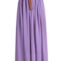Light Purple Chiffon Maxi Skirt
