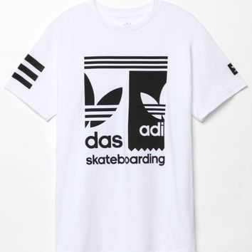 adidas Split T-Shirt - Mens Tee - White