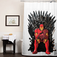 The Iron Man Throne custom shower curtain