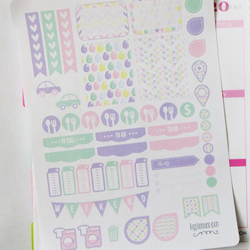 Easter Weekly Spread Planner Stickers for Erin Condren Planner, Filofax, Plum Paper