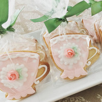 Iced Shortbread Teacups (One Dozen)