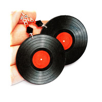 Vinyl Records - Decoupage Retro Earrings - Double Faced | Luulla