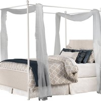 1999 McArthur Canopy Bed Set - Off-White Finish - Queen - Bed Frame Included
