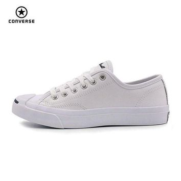 DCKL9 Converse Original new Smile style JACK PURCELL shoes man and women Unisex PU Leather S