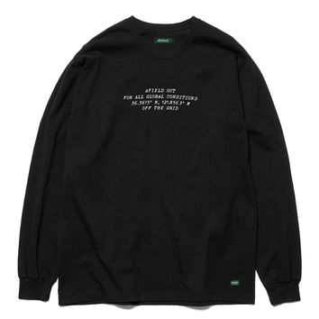 Off The Grid L/S Tee in Black