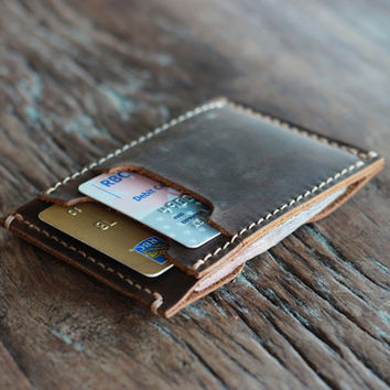 The Inside Out Men's Leather Wallet -- Minimalist Wallets - 031 - The Wallet of The Year