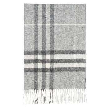 Burberry Women's Classic Check Scarf Pale Grey