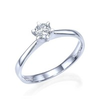 Debra - Solitaire Diamond Engagement Ring in 14k white gold (.51 ct t.w)