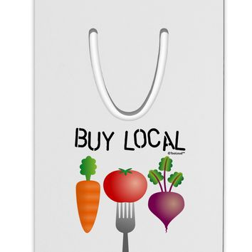 Buy Local - Vegetables Design Aluminum Paper Clip Bookmark