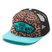 Vans Beach Girl Leopard Trucker Hat (Leopard Teal)
