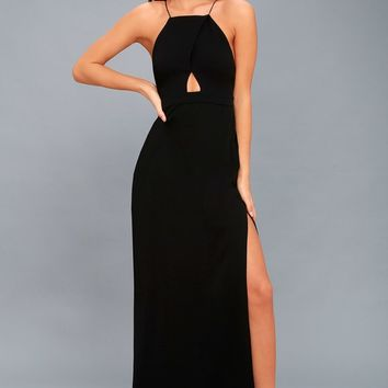 Sloan Black Backless Maxi Dress