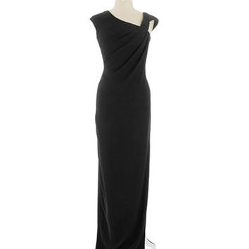 Pamella Pamella Roland Capped Sleeve Gown