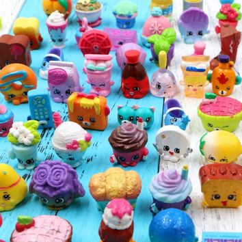 100pcs/1lot shopkin New Arrial Fruit Tools Catoon 1-3cm Action Figures Toys Brinquedo Toy Girl Boy Christmas Gift