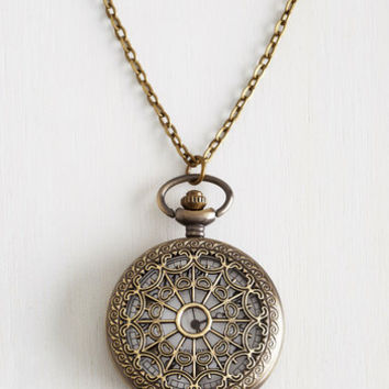Vintage Inspired, 30s, 40s, Scholastic Turn Back Time Necklace in El Prado by ModCloth