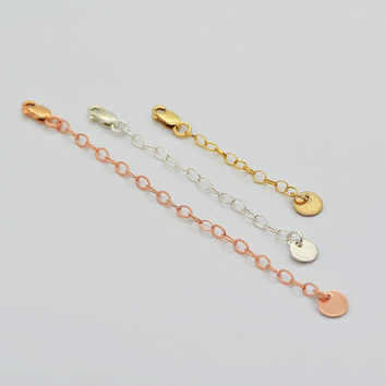 Extender Chain for Necklace or Bracelet, Extension Chain, 14k Gold Filled, Rose Gold Filled, Sterling Silver