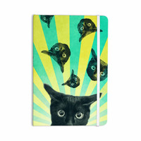 "Cvetelina Todorova ""Cat Explosion"" Yellow Green Everything Notebook"