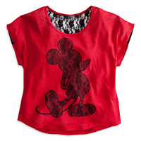 Mickey Mouse Lace Tee for Women