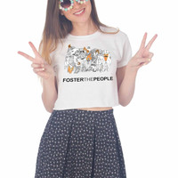 FOSTER THE PEOPLE For Womens Crop Shirt **