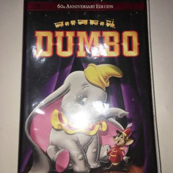 Dumbo Walt Disney's 60th Anniversary Edition VHS Rated G #21623