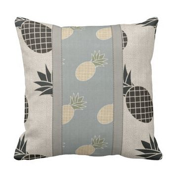 Designer Pineapple Outdoor Pillow